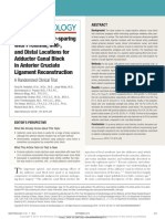 Opioid- and Motor-sparing with Proximal, Mid-, and Distal Locations for Adductor Canal Block in Anterior Cruciate Ligament Reconstruction