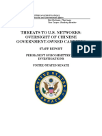 Threats to U.S. Networks - Oversight of Chinese Government-Owned Carriers