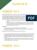 VIDEO  Nº 3y nº 4
