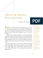 Alberto de Oliveira -duas efemérides - Sânzio de Azevedo