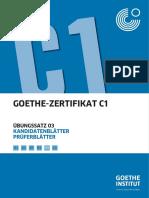 Goethe c1 Prüfung 3