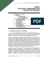 Tema 2 - Ecología y microbiología (conceptos básicos)