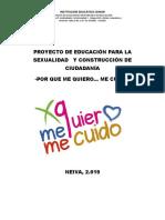 PROYECTO VERDADERO DE EDUCACIÓN PARA LA SEXUALIDAD   Y CONSTRUCCIÓN DE CIUDADANÍA