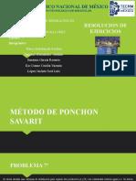 METODO DE PONCHON SAVARIT TAREA ejercicios