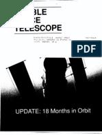 Hubble Space Telescope Update 18 Months in Orbit