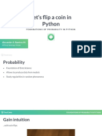 Foundations of Probability in Python