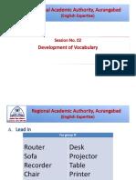 Development of Vocabulary