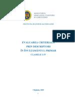 Evaluarea criterială prin descriptori în învățământul primar. Clasele I-IV.
