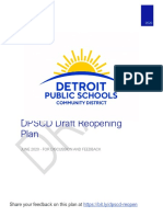 DPSCD Official Draft Covid Reopening Plan