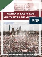Carta a Las y Los Militantes de Morena GRR
