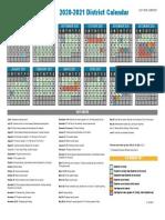 2020-2021 MNPS+District Calendar