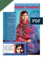 Afiche Malala Yousafzai