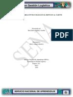 Evidencia 5 Integración de áreas involucradas en el servicio al cliente