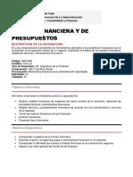 33. 802100M - GESTION FINANCIERA Y DE PRESUPUESTOS