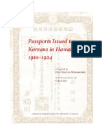 Passports Issued to Koreans in Hawai'i, 1910-1924