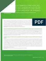PRIMEIROS SOCORROS E PREVENÇÃO DE ACIDENTES NO AMBIENTE ESCOLAR