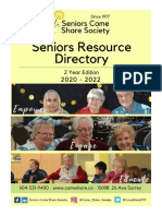Seniors Come Share Society 2020 - 2022 Resource Directory
