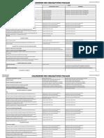 calendrier des obligations fiscales