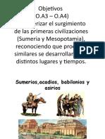 Sumerios, acadios, babilonios y asirios 7° básico 2020