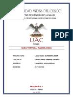 GUIA DE LABORATORIO RX PANORAMICA ODONTOLOGIA