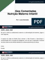 QUESTÕES - NUTRIÇÃO MATENO INFANTIL