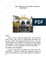 The brief Biography of Hazrat Yousuf Sahib and Hazrat Sharif Sahib