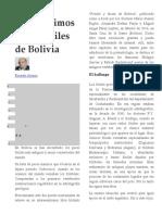 Antiquísimos peces fósiles de Bolivia