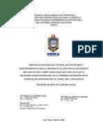 Informe Final de Practica Profesional.