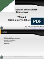 T4P-Inicio y cierre del sistema