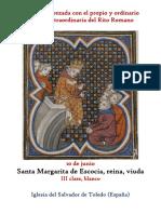 10 de Junio. Santa Margarita de Escocia. reina y viuda. Propio y Ordinario de la santa misa