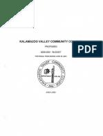 2020 - 2021 KVCC Budget