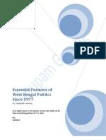 West Bengal Politics From 1977 Till 2010.