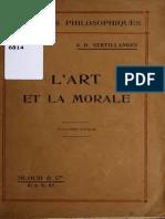 A arte e a moral - A. Sertillanges (texto em francês).