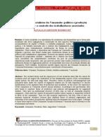 As comunas socialistas da Venezuela política e produção material sob o controle dos trabalhadores associados NATALIA SCARTEZINI RODRIGUES