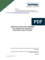 Aspectos Legales Del Gobierno Electrónico Venezolano (Ensayo)
