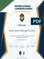 Certificado Curriculum Lider Juvenil