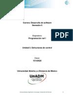 Unidad 3. Estructuras de control