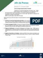 Boletín de prensa EDEQ #10-2020 EDEQ tarifas de energía