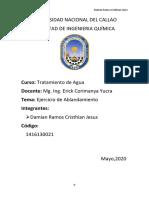 EJERCICIO DE ABLANDAMIENTO -  DAMIAN RAMOS