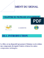 Chapitre III _ Filtrage analogique