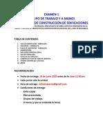 Examen 1 (Indidual y Manual) CONSTRUCCIÓN 12 PM