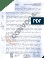 Acta fiscal de las pruebas a los trabajadores de Ocho Sur