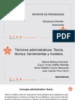 Terminos administrativos