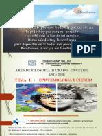 11° EPISTEMOLOGIA Y CIENCIA ..TEMA 3 -GRADO 11°.CHW-2020