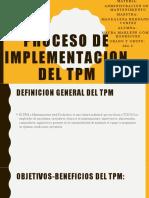 PROCESO DE IMPLEMENTACION DEL TPM