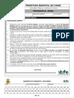 ibfc-2019-prefeitura-de-conde-pb-professor-b-artes-prova