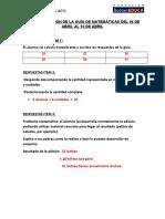 AUTOCORRECCIÓN DE LA GUÍA DE MATEMÁTICAS DEL 30 DE MARZO AL 03 DE ABRIL