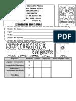Examen1eroGrado Mes Septiembre