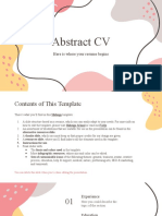 Abstract CV by Slidesgo