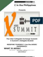 Delegate Handbook- Aiesec x Summit 2010